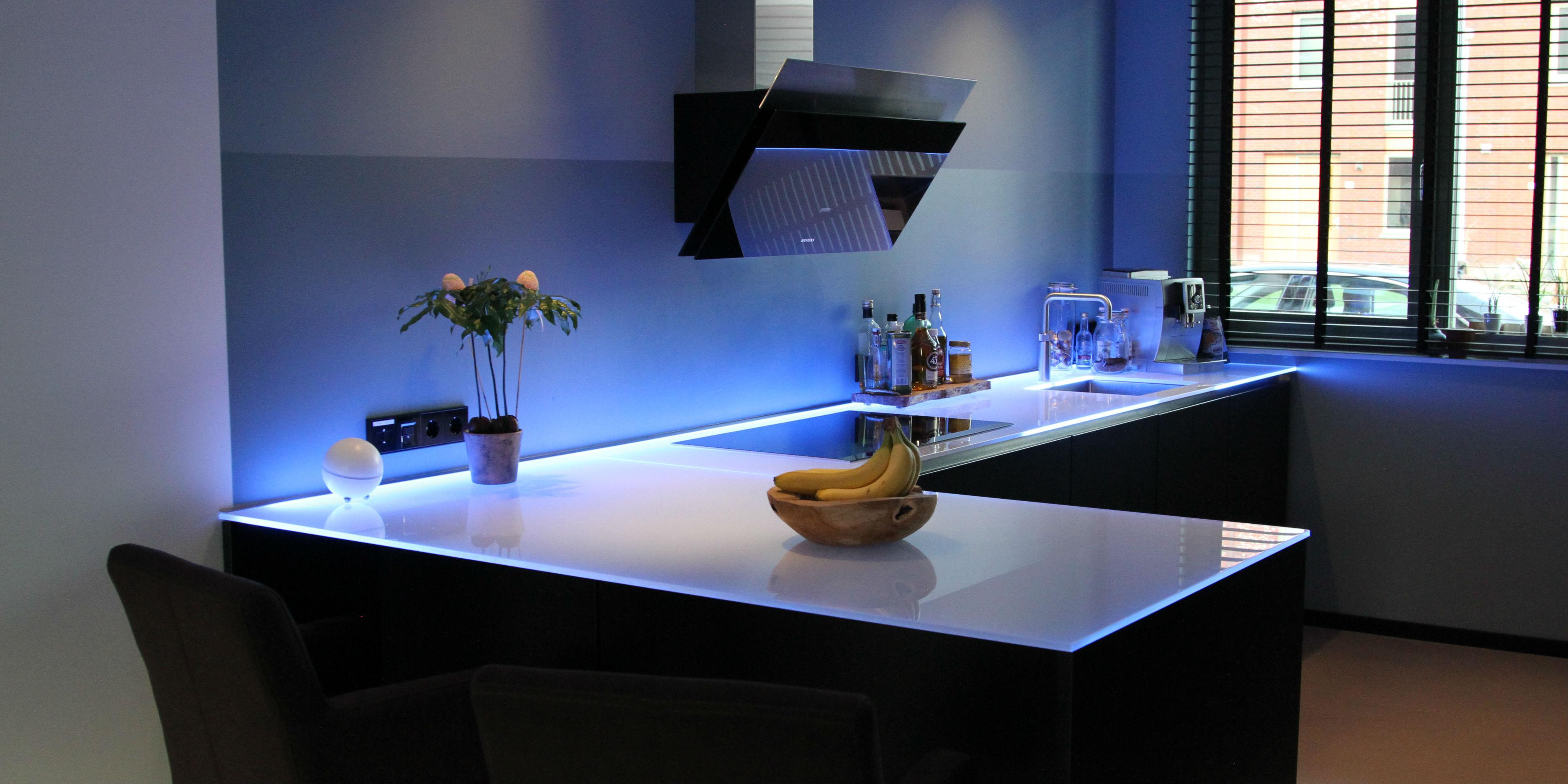 Keuken achterwand met led